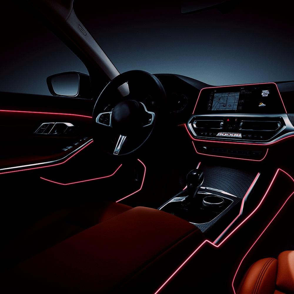 Светодиодная лента, гибкая LED лампа для салона автомобиля 2