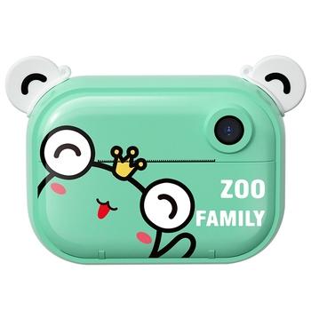 Drukuj aparat fotograficzny dla dzieci aparat fotograficzny aparat cyfrowy z zerowym atramentem i papier do druku termicznego i naklejki z kreskówek aparat fotograficzny zabawka dla dzieci tanie i dobre opinie Z tworzywa sztucznego CN (pochodzenie) Zabawki kamery green 2 4 inches IPS sn 15 x 8 x 11cm 32GB