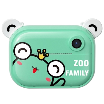 Print Camera Kids Zero Ink Digital with Thermal Printing Paper and Cartoon Stickers Children Toy - discount item  38% OFF Electronic Toys