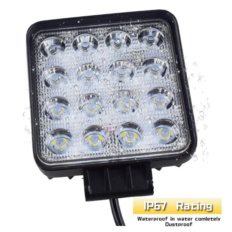48 Вт автомобильный головной светильник s 16 светодиодный s холодный белый светильник 4 дюйма Автомобильный рабочий светильник СВЕТОДИОДНЫЙ г...