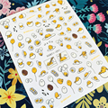 Новейшая модель; HANYI-91-100-101 Мультфильм Курица и яйцо 3d дизайн ногтей наклейки для ногтей Наклейка штамповки экспорт из Японии дизайн