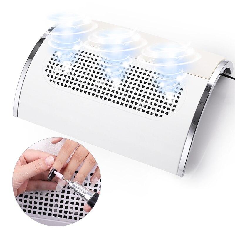 Гвоздь всасывающий пылесборник большой размер ногтей пылесос машина низкий уровень шума с 3 вентиляторами длительный срок службы низкий ур