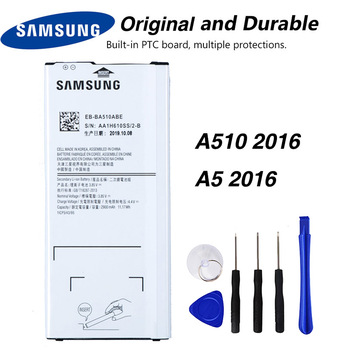 Samsung EB-BA510ABE Battery For Samsung GALAXY A510 2016 A5 2016 2900mAh чехол накладка with love moscow w003001sam для samsung galaxy a5 2016 a510 лев