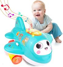 HISTOYE My First Plane Baby Toys Electronic Musical Airplane Toy for Toddlers Babies Early Learning Educational Toys for Kids