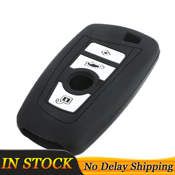 Silicone Car Remote Key Case Fob Shell Cover For BMW 1 2 3 5 7 Series F10 F20 F30 X1 X3 M1 M2 M3 E90 Skin Hood Holder Protector image