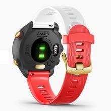 20mm Sport Silicone Watchband Strap for Garmin Forerunner 245 245M 645 Vivoactive 3 Smart Bracelet Watch Band Colorful Wristband 20mm silicone watch band strap for garmin forerunner 645