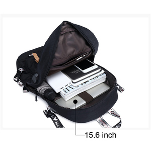 Image 5 - 대용량 대학 가방 여자를위한 학교 배낭 usb 충전 포트와 고등학교 bookbags 레이디 여성 여행 배낭