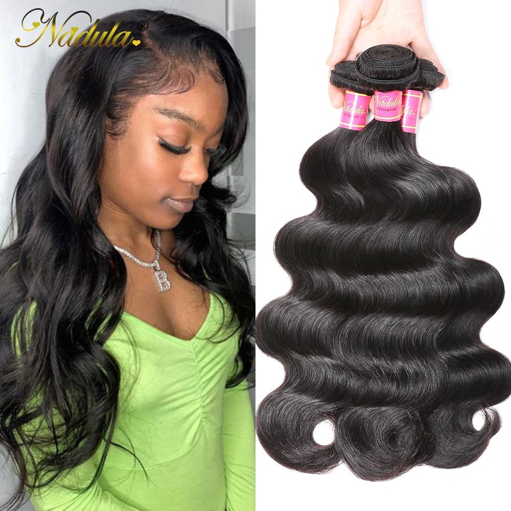 Nadula Hair 3Pcs/Lot Body Wave  s 8-30inch  Hair Bundles Natural Color  Hair s 1