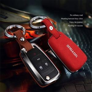 Faux Flip fur Car Key case For Chevrolet cruze spark camaro Volt Bolt Trax Malibu Aveo Opel Astra Corsa Meriva Zafira Antara J