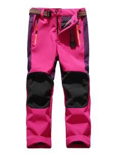 TRVLWEGO Snow Pants Skiing-Trousers Waterproof Kids Soft-Shell Winter Thick Child Fleece