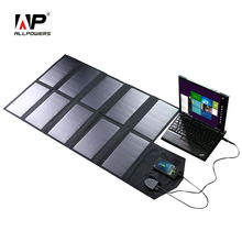 Allpowers painel solar 60 w 5 v 12v 18 v dobrável portátil carregador de bateria solar pilha solar para iphone smartphone 12v bateria de carro