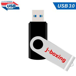 Image 2 - J boxing 16GB USB 3.0 Flash Drive Flash Memory Stick Metal Folding Pen Drive 32GB 64GB USB Flash U Disk for PC Mac Tablet Black