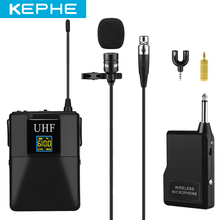 цена на Microphone Professional UHF Wireless Microphone System Lavalier Lapel Mic Receiver+Transmitter for Camcorder Recorder Microphone