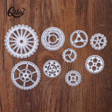 Qitai 2020 Lage Prijs 9 Pcs Gear Set Metalen Staal Embossing Stansmessen Craft Sterft Scrapbooking Diy Card Making Foto decor MD350(China)