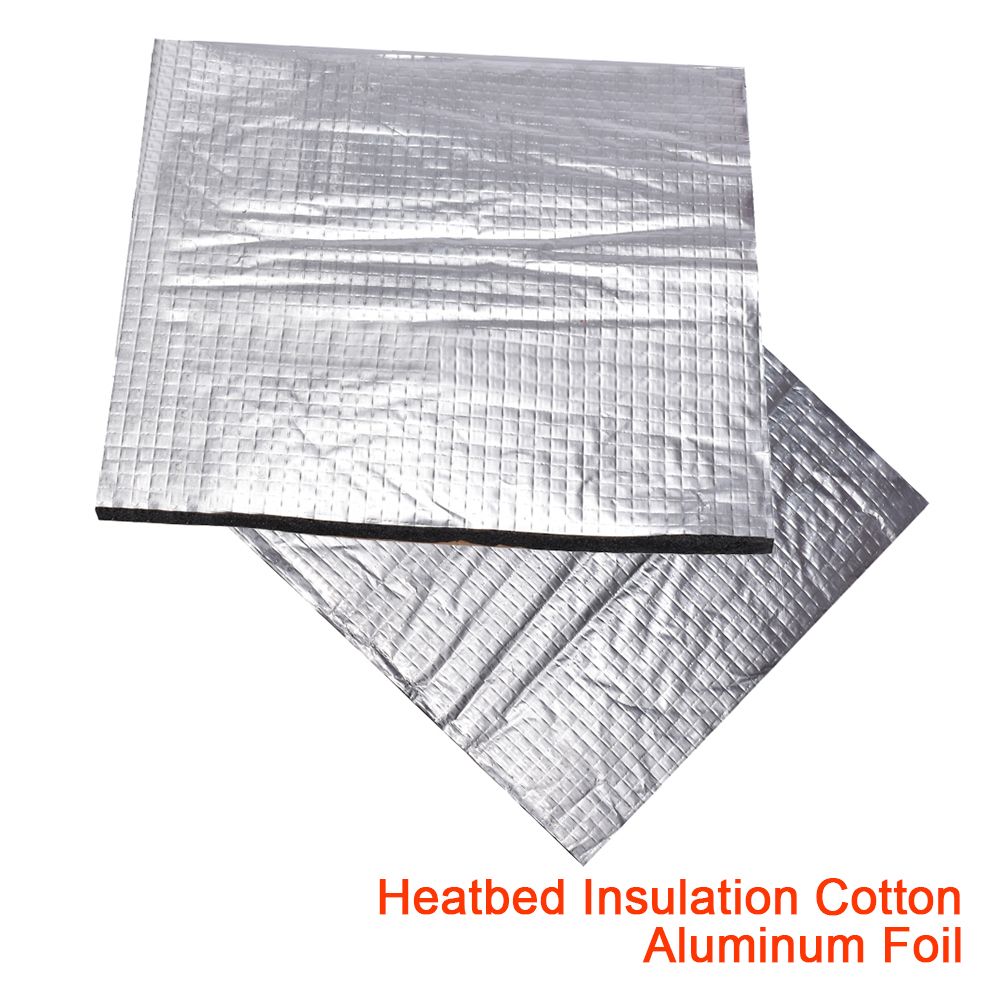 Heated <font><b>Bed</b></font> Insulation Cotton Aluminum Foil 200 <font><b>220</b></font> 300mm Sound Insulation Self-adhesive <font><b>Heat</b></font> <font><b>Bed</b></font> Sticker 3D Printer Parts Tape image