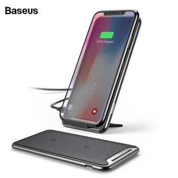 Baseus 10W QI Caricatore Senza Fili Per iPhone 11 Pro Xs Max Samsung S10 Xiao mi mi 9 veloce senza Fili pad di ricarica Docking Station Dock