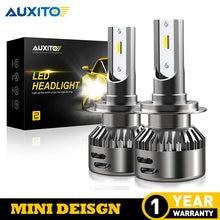 2 uds AUXITO LED H7 H4 H13 H11 H1 9005, 9006, 9004, 9007, 9012 LED Faro de 72W 16000LM bombilla LED de faros delanteros de coche Luz de niebla 6500K 12V
