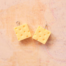 5PCS Resin Mini Cheese Charms Jewelry Necklace Pendant Keychain Charms For Earring DIY Bracelet Decorations Jewelry Accessory(China)