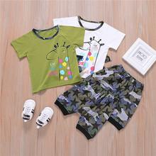 Zestawy ubrań dla niemowląt lato dla niemowląt chłopcy dziewczęta ubrania dla niemowląt bawełniane dla chłopców topy T-shirt + spodnie stroje dla dzieci zestaw ubrań dla dzieci tanie tanio One Persent COTTON W wieku 0-6m 7-12m 13-24m CN (pochodzenie) Mężczyzna Moda O-neck Swetry Krótki REGULAR Pasuje prawda na wymiar weź swój normalny rozmiar