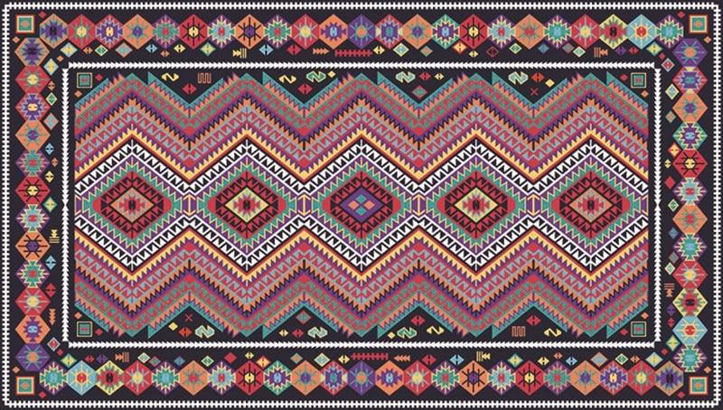 Moroccan Kilm Large Soft Geometric Area Rug