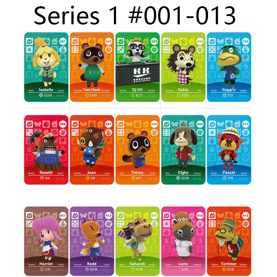 Series 1 (001 To 013) Animal Crossing Card Amiibo Cards Locks Nfc Card Work For Switch NS Games Animal Crossing Amiibo Cards