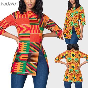Lue's House African Women Bazin Riche Dashiki Ankara Style Tops