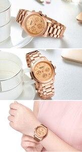 Image 5 - MEGIR Women Lover Wrist Watch Top Brand Luxury Gold Female Chronograph Date Clock Classic Business Quartz Watches Gift Box 2057