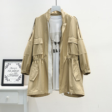 Fashion 2019 New Trench Coat Casual Plus Size Womens Windbreakers Loose Solid long Coat women Fall Long Female Jacket Overcoat каталка shantou gepai наша игрушка бабочки с ручкой 42088