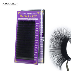 Image 1 - NAGARAKU Eyelash Extension Maquillaje Makeup Synthetic Mink Lashes Individual Eyelash 16 Rows Natural Soft Lashes Maquiagem