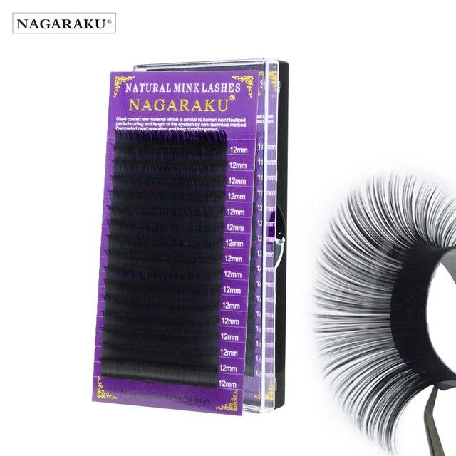 NAGARAKU Eyelash Extension Maquillaje Makeup Synthetic Mink Lashes Individual Eyelash 16 Rows Natural Soft Lashes Maquiagem