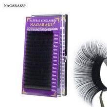 Nagaraku Wimper Extension Maquillaje Make Up Synthetische Mink Wimpers Individuele Wimper 16 Rijen Natuurlijke Zachte Wimpers Maquiagem