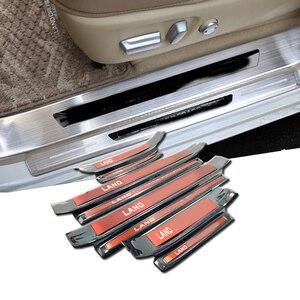 4 шт., Накладка для встроенного порога, Накладка для внутренней двери, Накладка для Toyota Land Cruiser Prado 150, J150, аксессуары 201