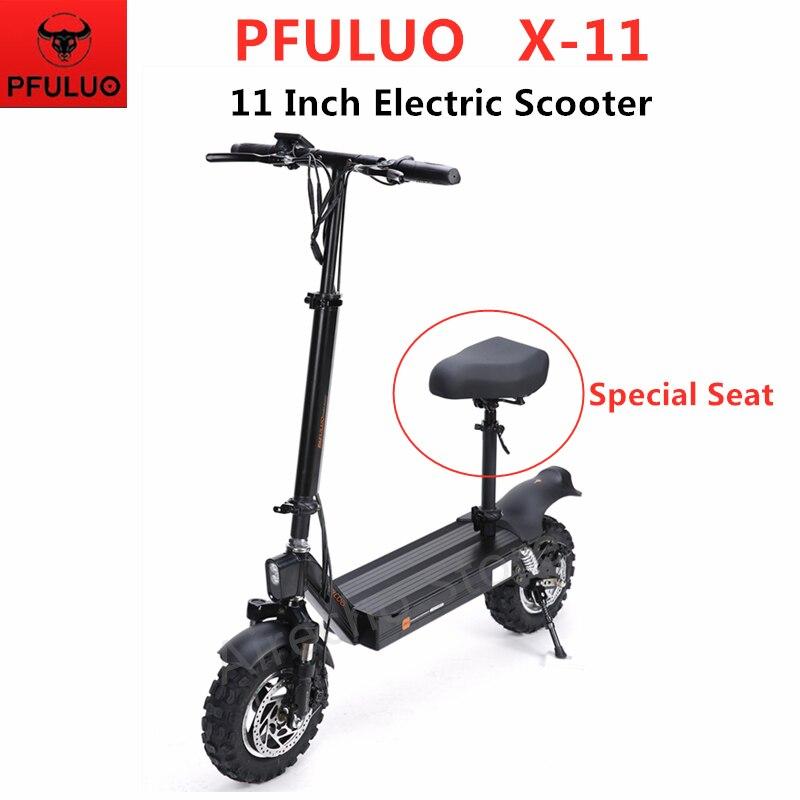 PFULUO X-11 Scooter électrique intelligent avec siège 1000W moteur 11 pouces 2 roues planche à roulettes hoverboard 50 km/h vitesse Max tout-terrain