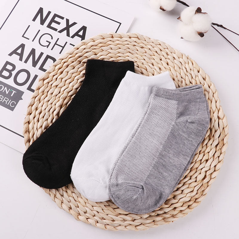 20Pcs=10Pair Solid Mesh Men's Socks Invisible Ankle Socks Men Summer Breathable Thin Male Boat Socks HOT SALE 2019 Wholesale