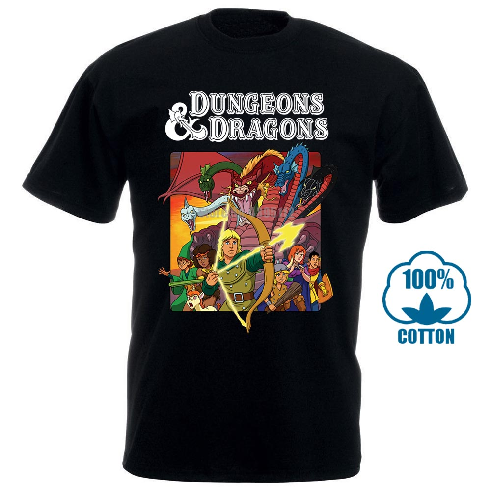 New Hot! Dungeons dragons old school t camisa tamanho m a 2xl