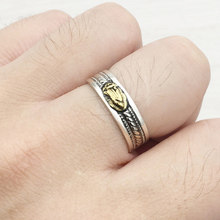 цены 925 Sterling Silver Jewelry For Men Lucky Brave Fine Jewelry Party Ring Virgin Mary Ring