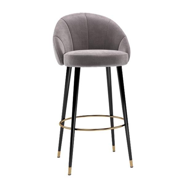 Solid Wood Bar Chair Modern Minimalist Fashion American Bar Chair Home Light Luxury Bar Chair European Creative High Bar Stool