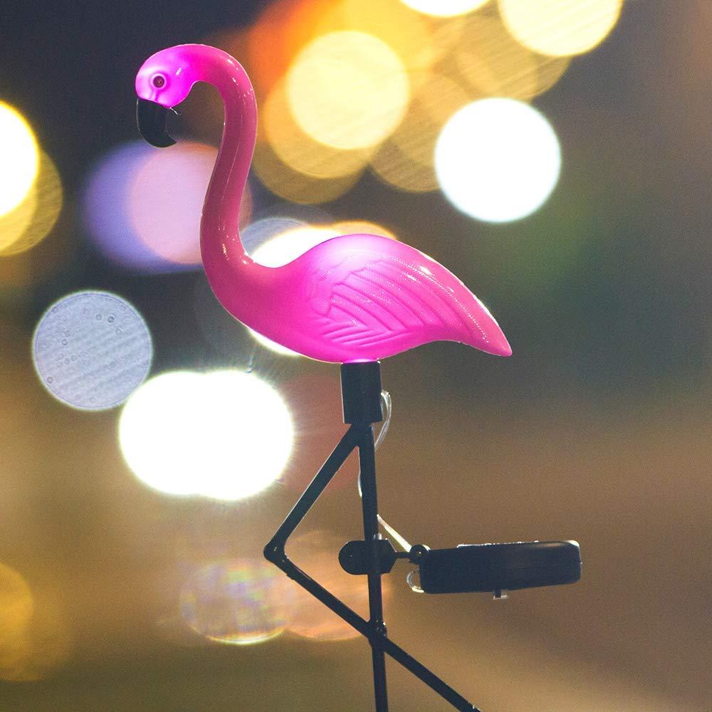 6Pcs Solar Pink Flamingo Light Lawn Ornament Garden Stake Outdoor Landscape Lamp