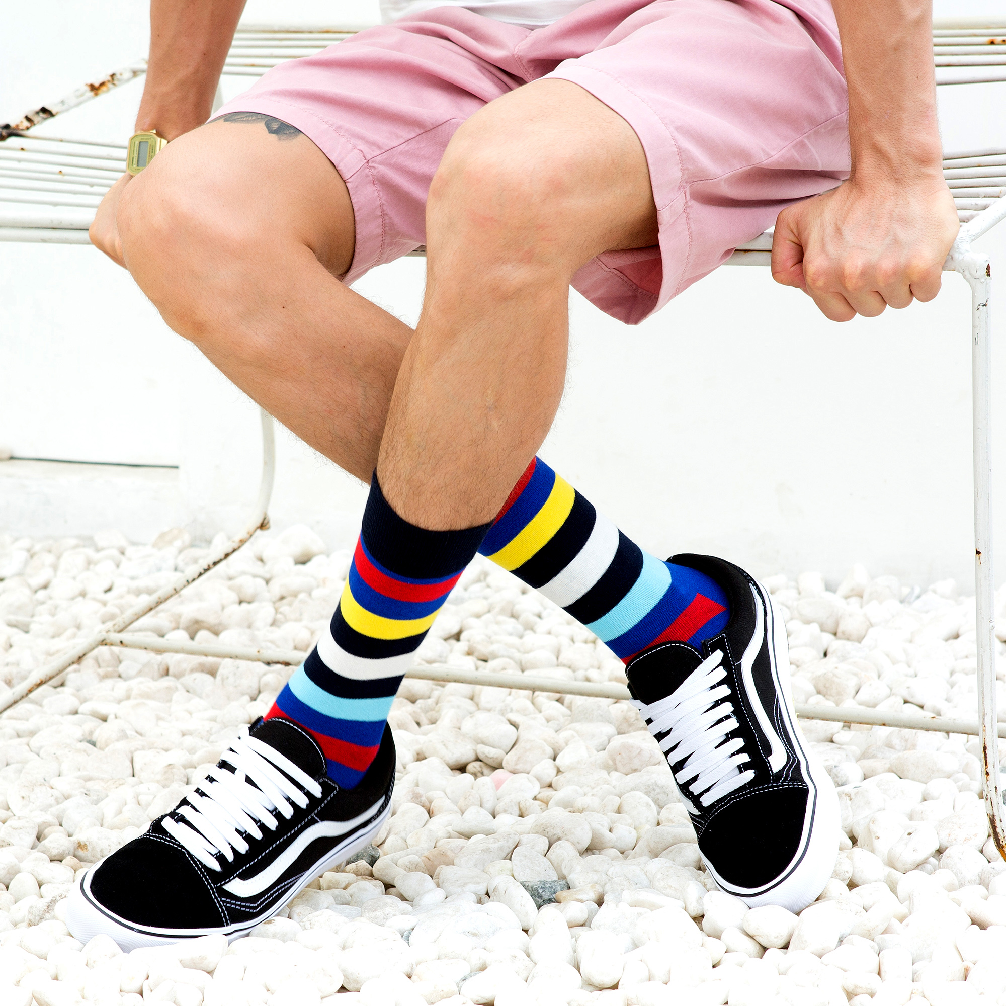 Image 5 - SANZETTI New Hot Colorful Men Socks Casual Combed Cotton High Quality Skateboard Funny Happy Wedding 12 Pairs/Lot Dress SocksMens Socks   -
