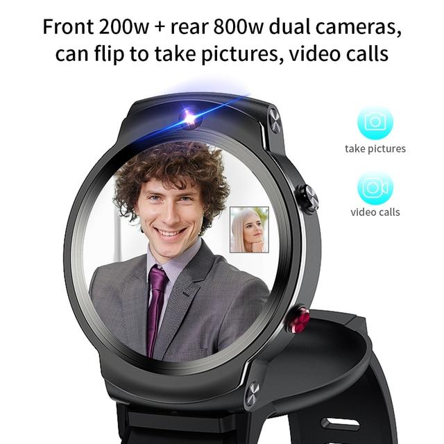 LEMFO LEM13 4G Android GPS Wifi Smart Watch Men Dual 8MP Cameras 1.6 inch Face ID 1280 mAh 3G 32G Smartwatch 2