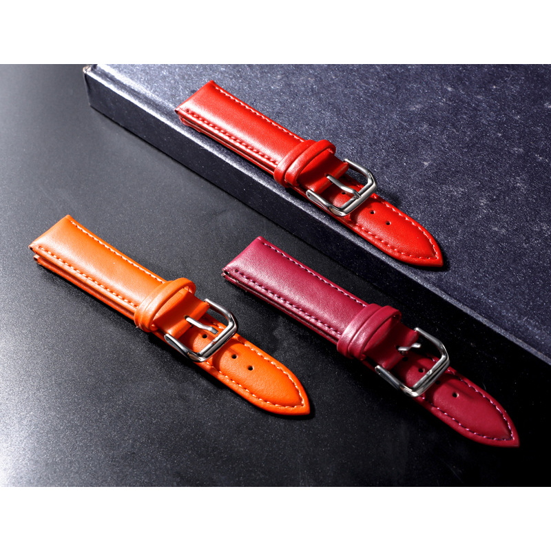 Watchbands Genuine Leather WatchBand Stainless Steel Buckle Clasp watch band leather strap 12 14  16 18 20 22 24mm