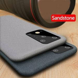 Image 1 - Роскошный Матовый Мягкий чехол YISHANGOU из песчаника для телефона Samsung Note 10 20 S20 FE Plus Ultra S10e A50 70 M51 A51 A71 81 Note10 Lite