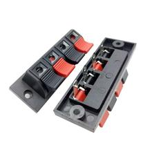 цена на 4pcs 4 Positions Connector Terminal Push in Jack Spring Load Design Audio Speaker Terminals Panel Connector