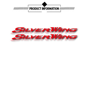 Image 1 - New motorcycle stickers reflective waterproof stickers fuel tank decals helmet LOGO for for Honda silverwing silver wing 400 600