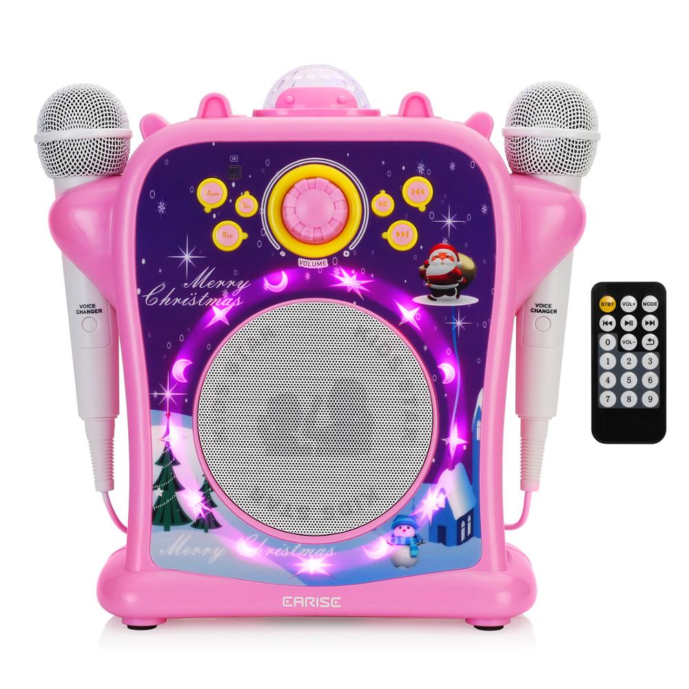EARISE T29 karaoké Machine pour enfants filles avec changeur de voix, Portable PA Bluetooth haut-parleur chantant Machine + 2 Microphone filaire