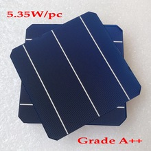 4.5W  High Efficiency 156mm 3BB Mono Solar Cell, A grade 100pcs Monocrystalline Cells 6x6 inch for DIY Panel