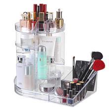 Acrylic Makeup Organizer Rotating Cosmetic Storage Rack 360 Frame Box Display Case Adjustable