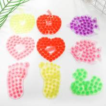 Double Sided Sucker Space Stickers PalmFoot Shape Soap Pad Sucker Household Bathroom Anti-slip Mats Palms Suction Cup Random(China)