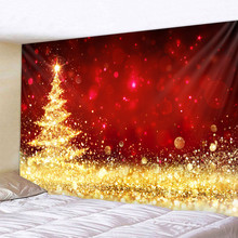 Christmas tree ice sculpture Tapestry Bedroom Living Room Wall Hanging Tapestry Home Decor Xmas Mat for Christmas New Year christmas tree gift wall decor tapestry