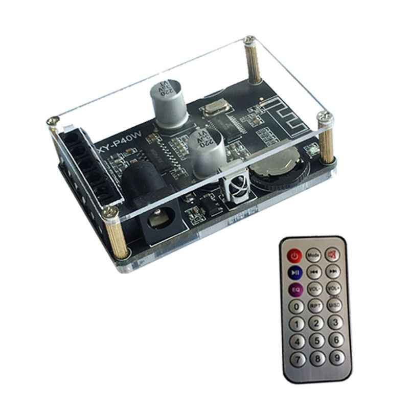 XY-P40W Bluetooth Digital Amplifier Papan Audio Receiver Stereo Nirkabel dengan Remote Control 30/40W 12/24V